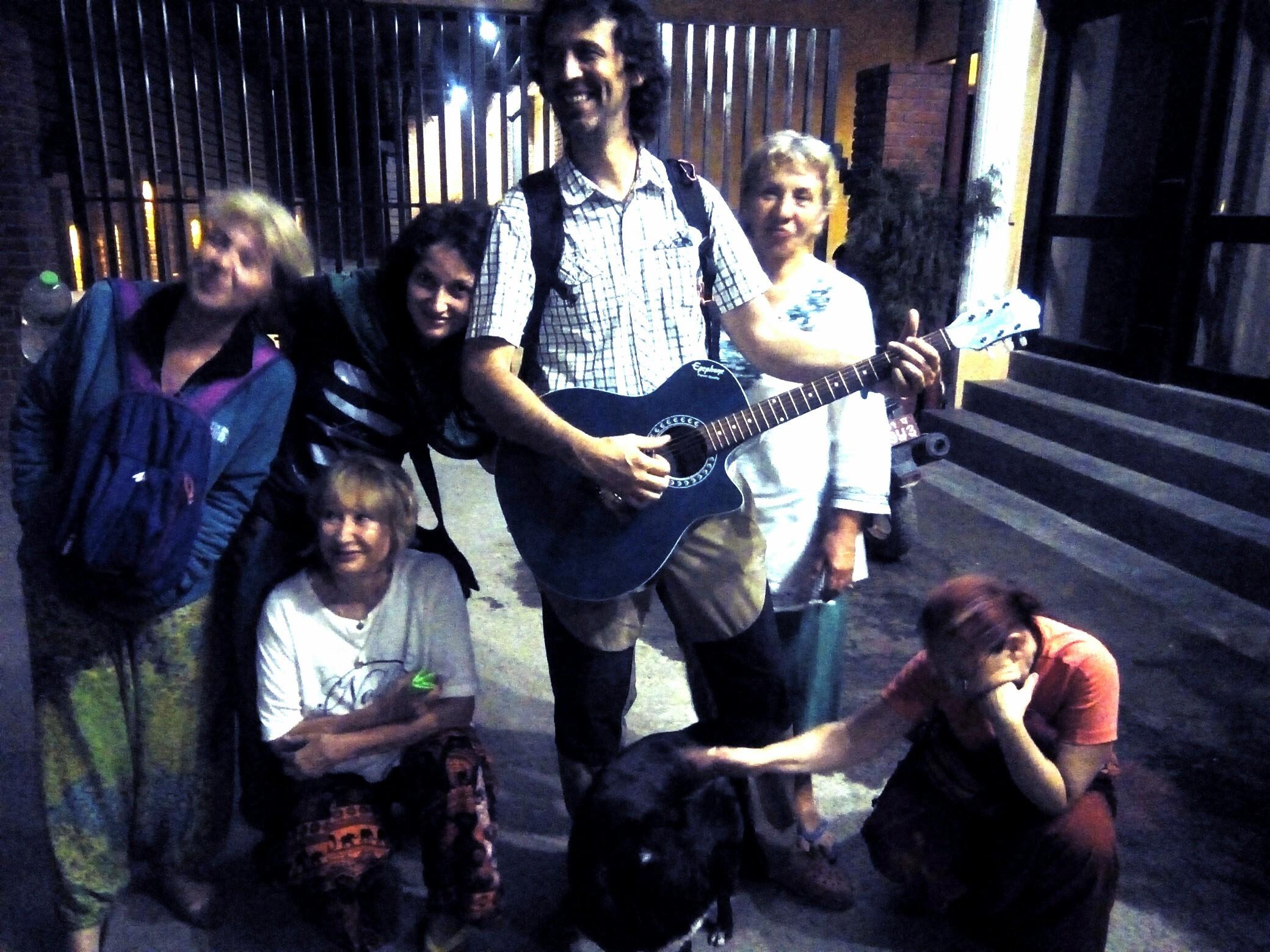 Sega and his Romanian visitors in Nepal