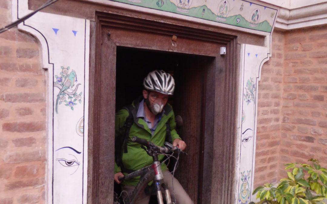 I Love to Cycle in Kathmandu